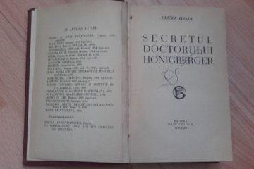 """Un roman misterios al lui Eliade: Secretul Doctorului Honigberger. Câteva considerații despre """"Tărâmul nevăzut"""""""